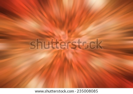 abstract orange background. explosion of a star with lines