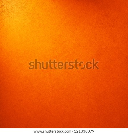 abstract orange background light yellow corner spotlight, faint dark orange vintage grunge background texture orange paper layout design for warm colorful background, rich bright hot sunny color - stock photo