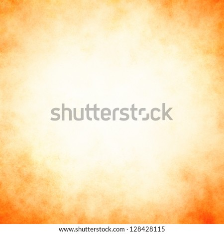 abstract orange background peach color, elegant warm background of vintage grunge background texture white center, pastel beige paper orange border for halloween autumn background design, white center - stock photo