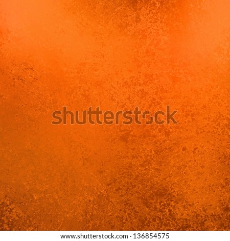 abstract orange background solid plain color with brown vintage grunge background texture frame with grungy sponge wall design, damaged rough ragged texture with brush strokes, graphic art image box