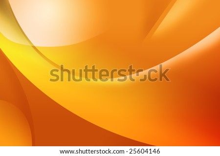 Abstract orange background with lines - stock photo