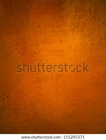 abstract orange background with old copper vintage grunge background texture wallpaper or paper, orange fall autumn or Thanksgiving background or web design template for halloween background layout