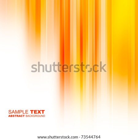 Abstract orange background with place for text - stock photo