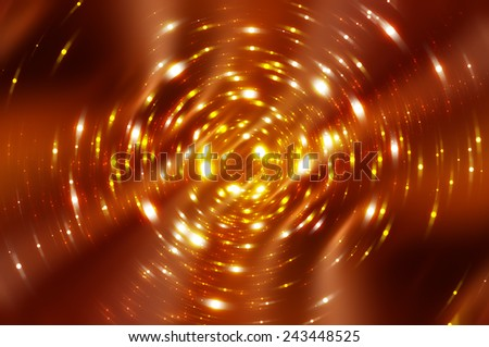 abstract orange background with scintillating circles and gloss - stock photo