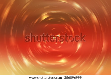 abstract orange background with scintillating circles and gloss