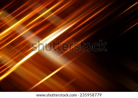 Abstract orange background with various color lines