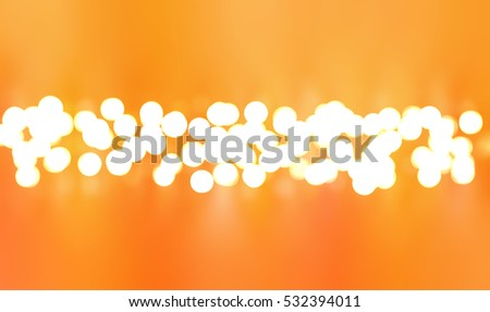 Abstract orange bokeh circles. Glamour background illustration with particles.