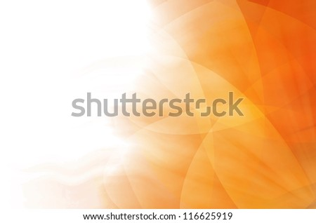 abstract orange curves background - stock photo