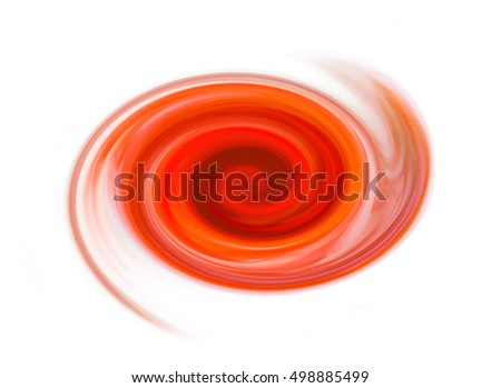Abstract orange cyclone