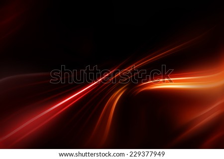 abstract orange elegant background with waves and lines - stock photo