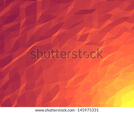 abstract orange lowpoly background - stock photo