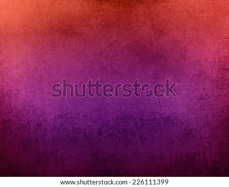 abstract orange pink and purple background with black messy vintage grunge texture design - stock photo