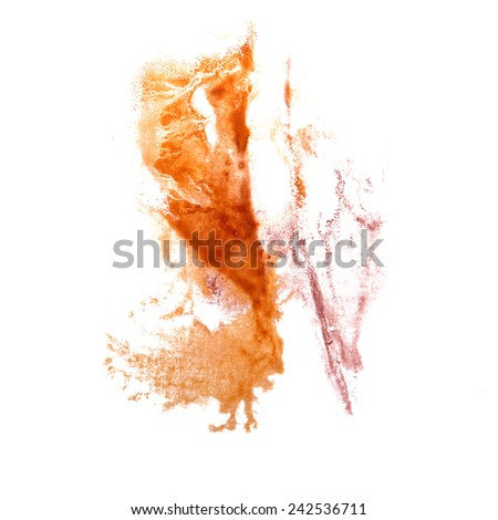 abstract Orange, pink drawing stroke ink watercolor brush water color splash paint watercolour background (2)
