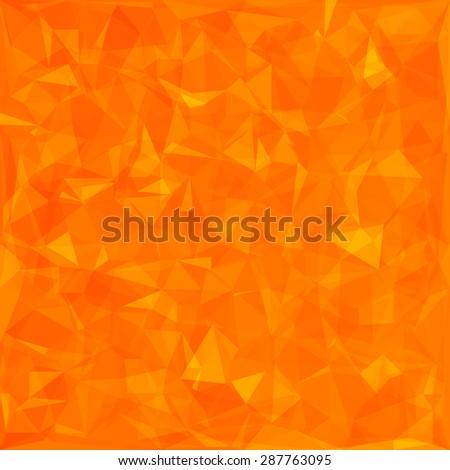 Abstract Orange Polygonal Background. Abstract Orange Geometric Pattern - stock photo