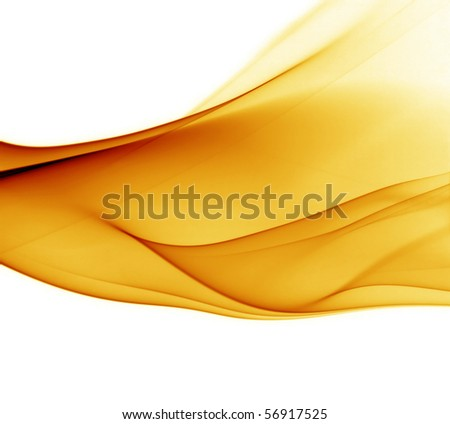 Abstract orange smoke with natural white background
