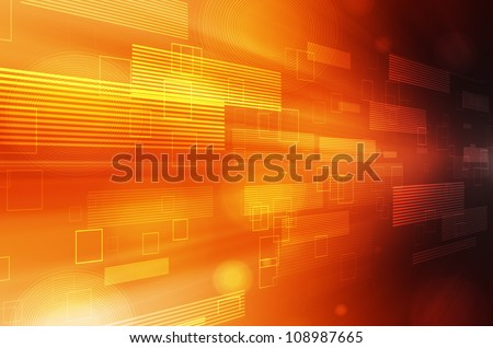Abstract orange technology background. - stock photo