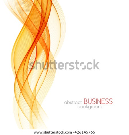 Abstract orange wavy lines. Colorful background. - stock photo