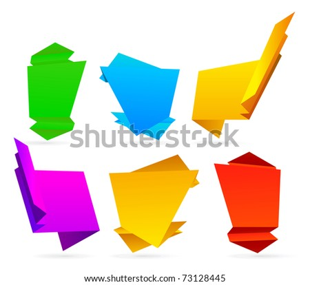 Abstract origami speech bubble background - stock photo