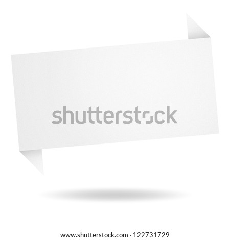 abstract origami speech bubble from paper - stock photo