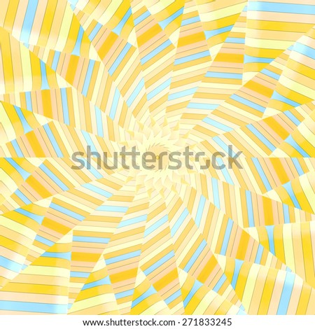 Abstract ornate radial pattern made of colorful plates - stock photo