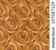 Abstract ornate wooden textured  weaving background. Seamless tiling. Illustration. - stock photo