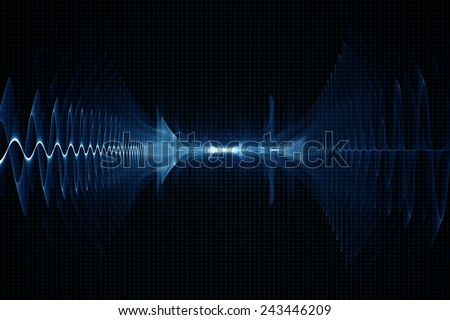 Abstract oscilloscope digital sound sonic wave background - stock photo