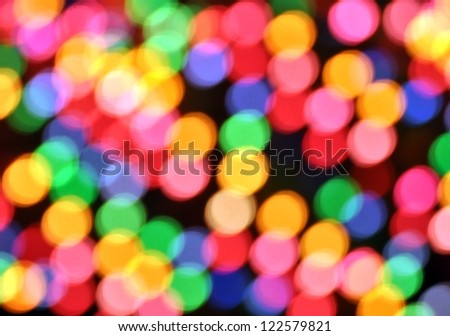 Abstract Out Of Focus Lights For Background