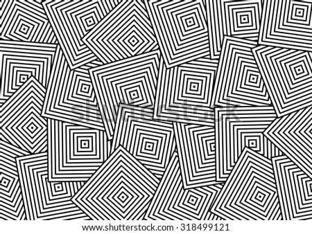 Abstract Overlap Square Pattern - stock photo