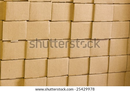 abstract packages - stock photo