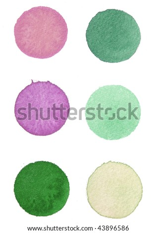 abstract paint background circles