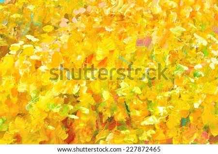 Abstract paint background, Yellow background  - stock photo