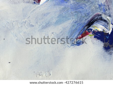 abstract painted acrylic on canvas background - stock photo