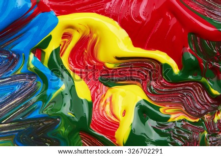 Abstract painted background, close up - stock photo