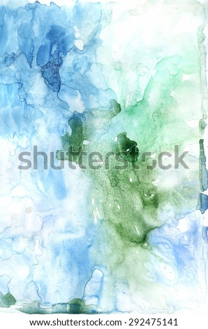 Abstract painted blue colorful watercolor background  - stock photo