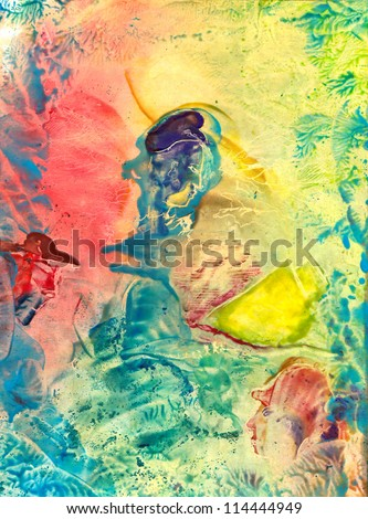 Abstract painted canvas - stock photo