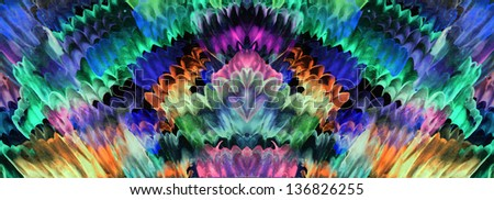 Abstract painted canvas as multicolor background - stock photo