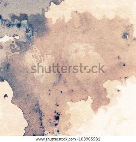 Abstract painted grunge background, ink texture. - stock photo