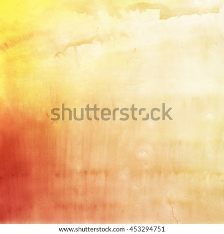 Abstract painted watercolor background on paper texture - stock photo