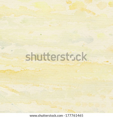 Abstract painted watercolor background with yellow splashes - stock photo