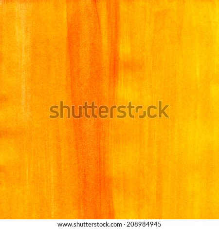 Abstract painted yellow and orange acrylic texture.