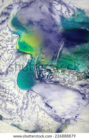 Abstract painting background. Handmade texture with acrylic and watercolor paints - marble technique - stock photo