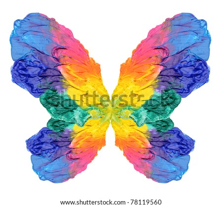abstract painting butterfly - stock photo
