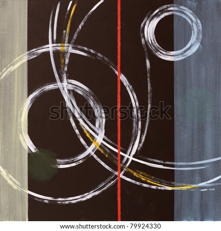 Abstract Painting by Clive Watts - Ringer #1 - stock photo