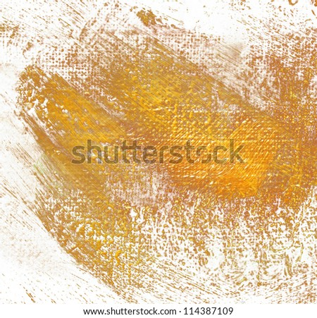 abstract painting by oil on a canvas, illustration, painting, shone golden paint - stock photo