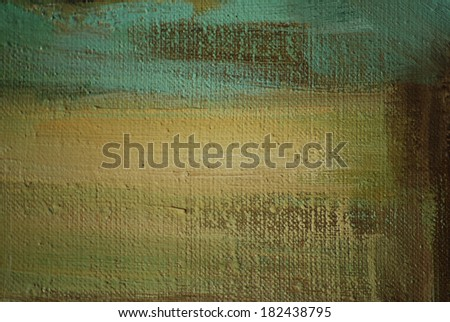 abstract painting by oil on canvas,  illustration - stock photo
