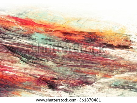 Abstract painting color texture. Bright artistic background. Multicolor dynamic pattern. Fractal artwork for creative graphic design - stock photo
