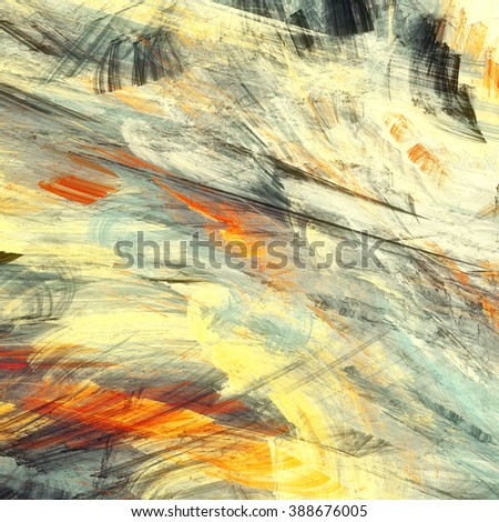 Abstract painting color texture. Bright artistic summer background. Modern multicolor dynamic pattern. Fractal artwork for creative graphic design - stock photo