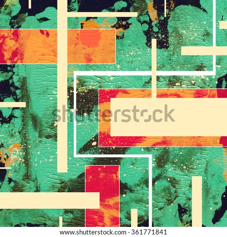 abstract painting, digital collage, mixed media, colorful background