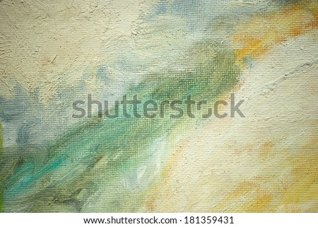 abstract painting for interior oil on a canvas, illustration - stock photo