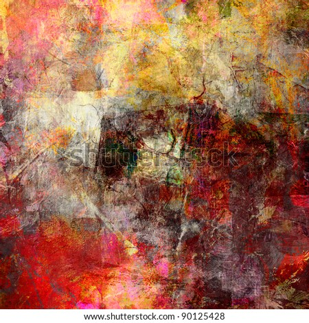 Abstract Painting Different Colors Textures Stock Photo Royalty